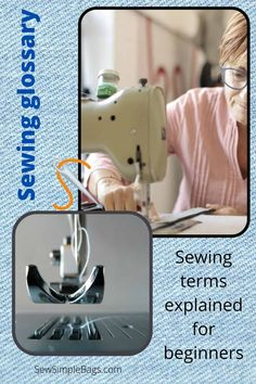 A complete beginners sewing dictionary. A glossary of sewing terminology and abbreviations with explanations. This learn to sew collection of sewing terms will demystify sewing patterns and instructions for beginners and intermediate sewers. Sewing Terms, Sewing Lessons, Easy Sewing Patterns, Bag Patterns To Sew, Sewing Hacks, Sew Simple, Simple Bags, Beginners Sewing, Pinking Shears