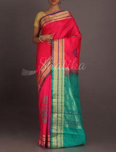 reeja Plush Play Of Colors Gorgeous #WeddingSilkSaree