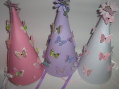 Butterfly fairy birthday hats