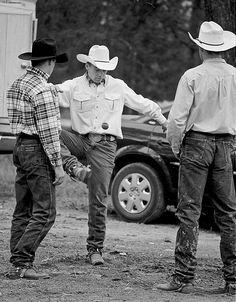 cowboys playing hacky sack