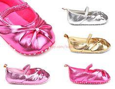 Infant Toddler Baby Girls Ballet Soft Sole Walking Shoes