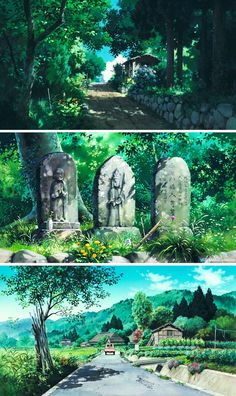 Only Yesterday Isao Takahata Today in Tokyo Studio Ghibli Background, Animation Background, Environment Painting, Environment Concept Art, Fantasy Landscape, Landscape Art, Manga, Studio Ghibli Art, Anime Scenery Wallpaper