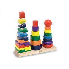 Pyramide cube en bois a emboîter