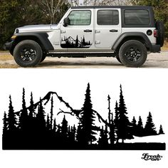 2008 and up Jeep Liberty Vinyl Mountains Stripes Graphics Decals 2016 2015  #13
