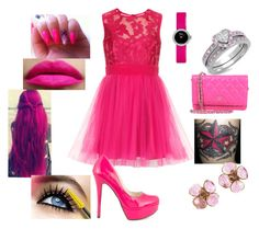 """""""~ Pink 4 ~"""" by moniquedawson09123 ❤ liked on Polyvore featuring Michael Antonio, Chanel and Christian Dior"""