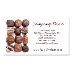 Chocolate business card assorted chocolates business cards colourmoves