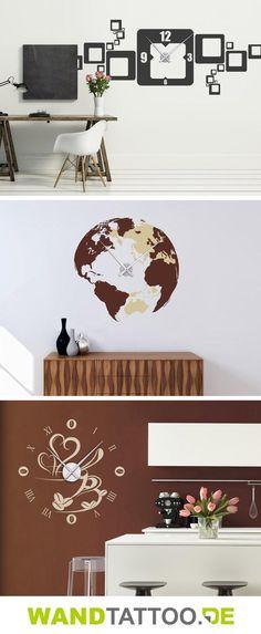 wwwamazonde Wandtattoo-Uhr-Wanduhr-Retro-stylische dp - moderne wohnzimmeruhr
