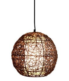 Product: BARBADOS  SKU: 010821  Detail: Barbados 1 light large round pendant in brown wengee cane with white fabric diffuser  Size: Width / Diameter: 0 mm  Depth / Length: 405 mm  Height: 370 mm  Globes: 1 x 60W not included ES  Price: $149.00        buy 2 and save $37.25