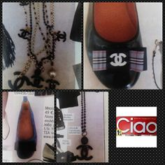 Handmade necklaces and shoes