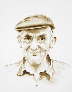 Evert Bouw, aquarel van Jolette van Eijsden naar een foto van Brand Overeem