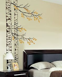 I just love these large wall stencils.