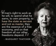Margaret Thatcher, October 10, 1975,  Speech to Conservative Party Conference