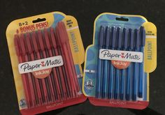 School supplies savings at target: 2 packs of papermate inkjoy pens, used 2 $0.75 off coupons and 20% of cartwheel school supply offer total=$0.88