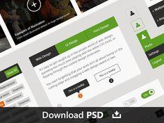 Flat Web & UI Kit Final Pack by Dart 117