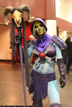 Rule 63 Skeletor! I must say I have never seen this done before. She still looks as creepy as she should be.