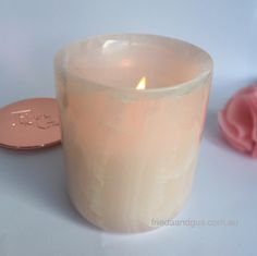 Pink Onyx Soy candle by Frieda & Gus - Frieda & Gus Soy Candles