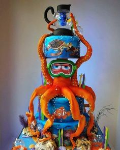 Suche nach Dory Cake - gâteaux - Dory Cake-gâteaux-を検索 #ケーキ #ドーリー #ガトー #後 #検索 Crazy Cakes, Fancy Cakes, Pink Cakes, Pretty Cakes, Beautiful Cakes, Amazing Cakes, Cake Disney, Disney Food, Disney Ideas
