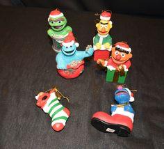 VTG Sesame Street Christmas Ornament ~ Jim Henson ~ Set of 6 ~ Lot of 6 #JimHensonProductionsInc