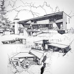 Interesting Find A Career In Architecture Ideas. Admirable Find A Career In Architecture Ideas. Architecture Design, Architecture Concept Drawings, Architecture Sketchbook, Landscape Architecture, Landscape Design, Planer Layout, Building Sketch, Perspective Drawing, Construction