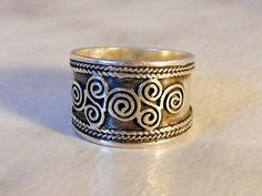 Vintage Sterling Cigar Band    Size 6        Tapered Band by GemstoneCowboy on Etsy