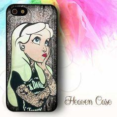 Disney Alice In Wonderland Cell Phone iPhone 4S//5//5C Tech Case Wallet Wristlet