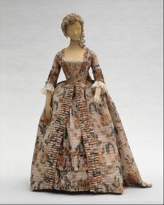 Robe à la Française  Date:     1760–70 Culture:     French Medium:     silk…