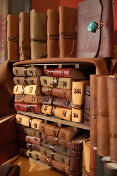 handmade leather bound journals