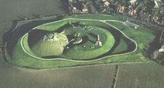 Aerial View of Sandal Castle in Wakefeld, West Yorkshire