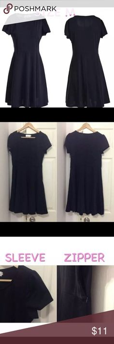 "NEW Black Fit & Flare Dress NWOT. 95% cotton, 5% spandex. US Women's Size Medium. Fits up to 36"" bust and 30"" waist.  Features: Side zipper closure Cap sleeves Round neck  Before you buy, compare the following measurements to those of a comfy dress you own. Sleeve length- 5.5"" Armpit to armpit- 17"" Waist width- 15"" Armpit to hem- 26"" Shoulder to hem- 34.5"" Dresses Mini"