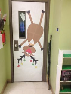 No l on pinterest for Decoration porte noel ecole
