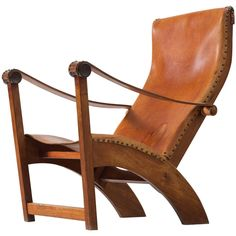 Mogens Voltelen Copenhagen Chair in Mahogany and Cognac Leather   From a unique…