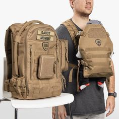 Dad Diaper Bag, Diaper Bag Backpack, New Dad Survival Kit, Molle Accessories, Diy Gifts For Dad, New Daddy, Thing 1, Herschel Heritage Backpack, Baby Design