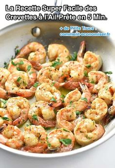 Super Easy Recipe for Garlic Shrimp Ready in 5 Min. - the quick and express recipe for garlic shrimp - Fish Recipes, Seafood Recipes, Dinner Recipes, Cooking Recipes, Healthy Recipes, Garlic Shrimp Recipes, Easy Shrimp Recipes, Garlic Prawns, Aloo Recipes