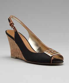 Take a look at this Black Violeta Slingback Wedge by Tommy Hilfiger on #zulily today!