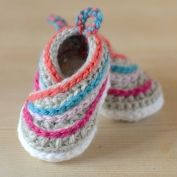Stripy espadrille shoes - Allcrochetpatterns.net