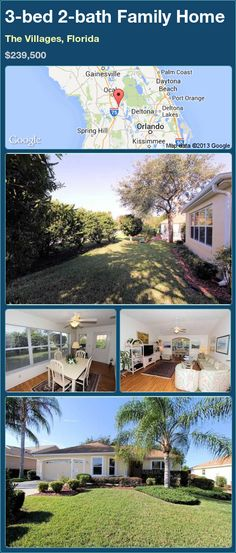 3-bed 2-bath Family Home in The Villages, Florida ►$239,500 #PropertyForSale #RealEstate #Florida http://florida-magic.com/properties/83056-family-home-for-sale-in-the-villages-florida-with-3-bedroom-2-bathroom