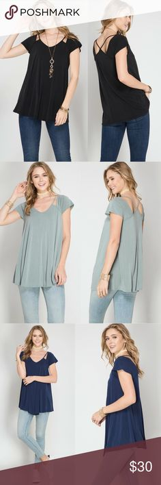Modal tunic top Modal tunic top with shoulder&aback details Tops Tunics