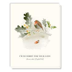 Sympathy Oak Card