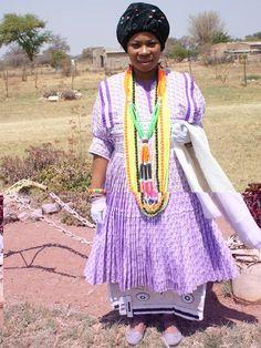 Bapedi woman in her traditional wedding dress African Dresses For Women, African Print Dresses, African Attire, African Wear, African Fashion Dresses, Pedi Traditional Attire, Sepedi Traditional Dresses, African Traditional Wedding, Traditional Weddings