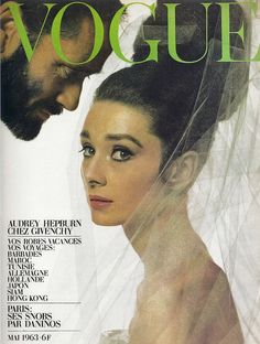 Audrey Hepburn in Vogue and a very (very) creepy Mel Ferrer :)