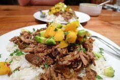Best Slow Cooker Jerk Pork With Caribbean Salsa Recipe on Pinterest