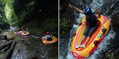 Discover a bali hidden Canyon by floating your own tube inflatable! at Bali Canyon Tubing Adventure Bali Activities, Bali Tour Packages, Snorkelling, Day Tours, Rafting, Have Fun, Adventure, Trips, Travel