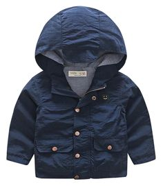 Katoofely Boys Parka Coat Vintage Style Overcoat Button Down Two Pockets Spring Jacekts 7-8T Blue. Comfortable Material: Polyester and Cotton, Double-deck design, comfortable soft and warm, friendly to kids' skin coat. Fashion Style Jacket: classic solid color hooded outwear, button decoration on cuff and two hand pockets, modren western style coat. Special closure Design: metal buttons dowm with hidden smooth zipper up design, easy to put on and take off. Washing Instruction: machine…