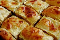 Strukli - snack food from Croatia - baked strukli with cheese.