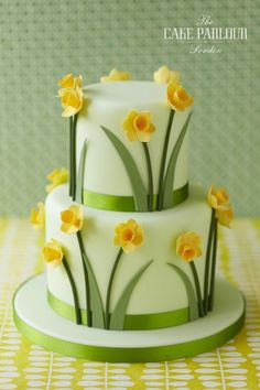 View our celebration cakes gallery with birthday cakes, christening cakes, engagements cakes, anniversary cakes and other novelty cakes. Pretty Cakes, Beautiful Cakes, Amazing Cakes, Simply Beautiful, Fondant Cakes, Cupcake Cakes, Shoe Cakes, Daffodil Cake, Daffodil Wedding
