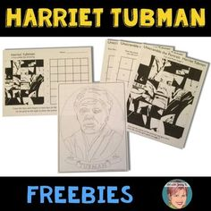Harriet Tubman FREEBIE: This freebie is a collection of the bonus materials that are included in my Harriet Tubman Collaboration Poster resource. You can see the full Harriet Tubman resource HERE.I have created these bonus activities so that each student might have a copy of Tubman, in one form or another to keep for themselves.