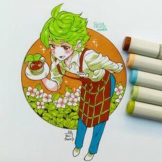 ibu chuan cookie run ~ ibu chuan cookie run Beautiful Drawings, Cute Drawings, Pretty Art, Cute Art, Anime Chibi, Anime Art, Cookie Run, Herb Art, Cute Cookies