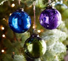 Mercury Glass Ball Ornaments - Jewel Tones, Potterybarn  - Perfect for CTMH Pacifica, Gypsy, and Topiary...look out Holiday Extravaganza