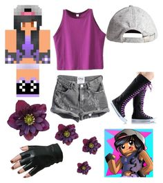 """aphmau"" by kaylathegirlgamerxoxo ❤ liked on Polyvore featuring H&M and BLVD Supply"