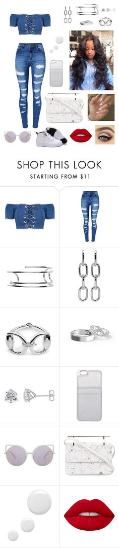"""""""All the way out"""" by designer-caldo ❤ liked on Polyvore featuring WithChic, Jennifer Fisher, Alexander Wang, Gucci, MICHAEL Michael Kors, Matthew Williamson, M2Malletier, Topshop and Lime Crime"""